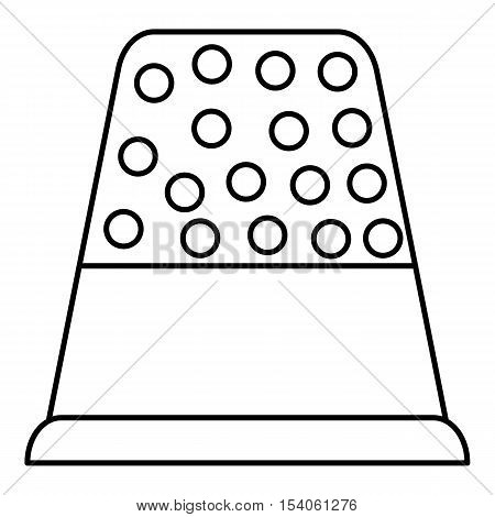 Thimble icon. Outline illustration of thimble vector icon for web