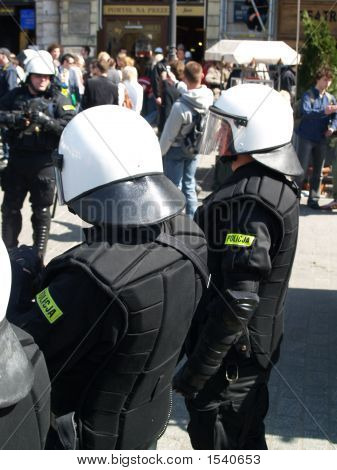 Police At Demonstration
