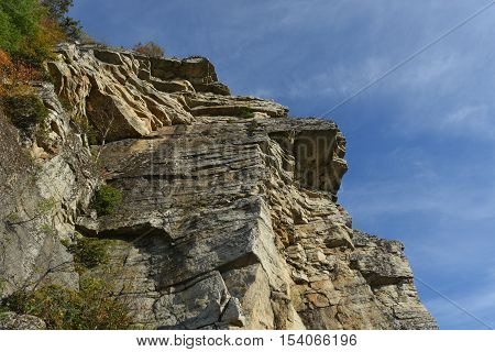 Cliff in the Mohonk Preserve in New Paltz New York.