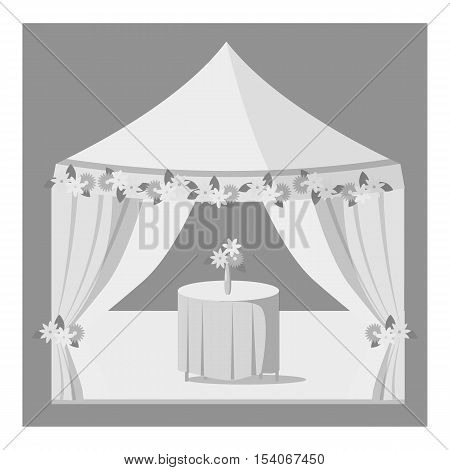 Wedding marquee icon. Gray monochrome illustration of vector icon for web