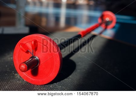 Bar-bell in the gym