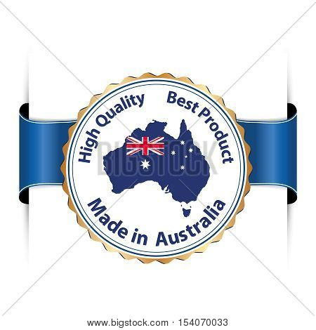 Made in Australia, Best product, High Quality - label for retail / business industry