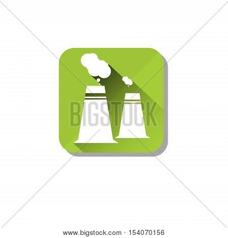 Plant Gas Emission Environment Pollution Eco Nature Care Web Icon Flat Vector Illustration