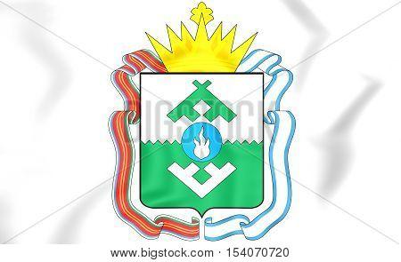 Nenets Autonomous Okrug Coat Of Arms, Russia. 3D Illustration.