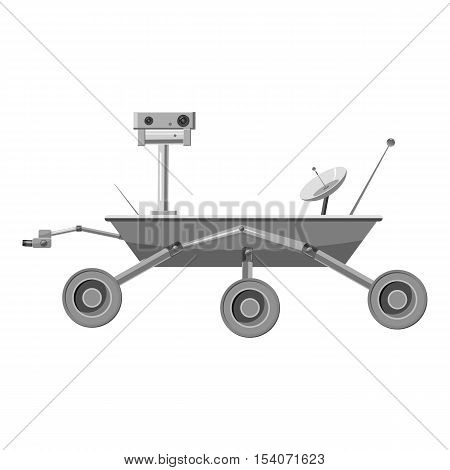 Mars exploration rover icon. Gray monochrome illustration of Mars exploration rover vector icon for web