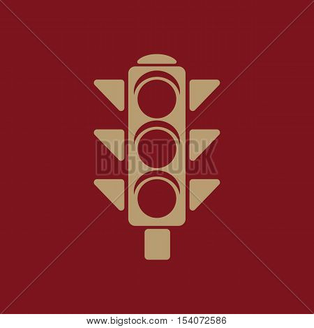 The traffic light icon. Stoplight and semaphore, crossroads symbol. Flat Vector illustration