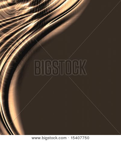 Smooth Chocolate Brown Ripples