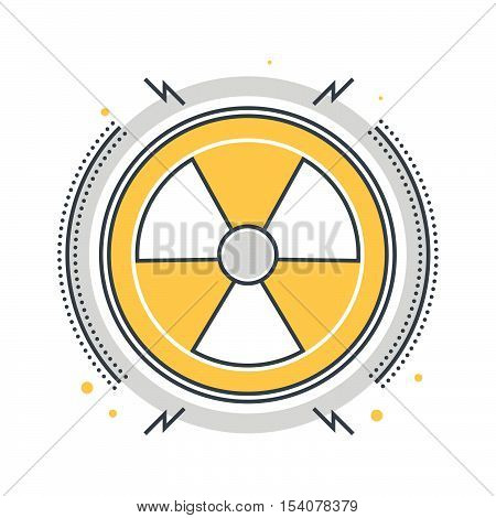 Color Line, Nuclear Energy Concept Illustration, Icon