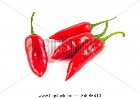 Healthy Food. Fresh Vegetables. Red Peppers On A White Background