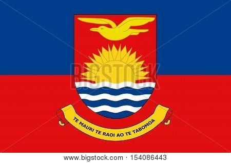 Flag of Republic of Kiribati Micronesia. illustration