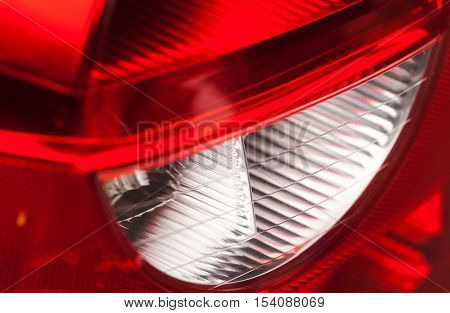 Front look headlamp white car of background