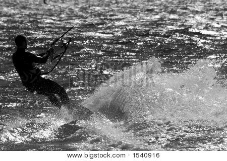 Sillouette Kite Surfing