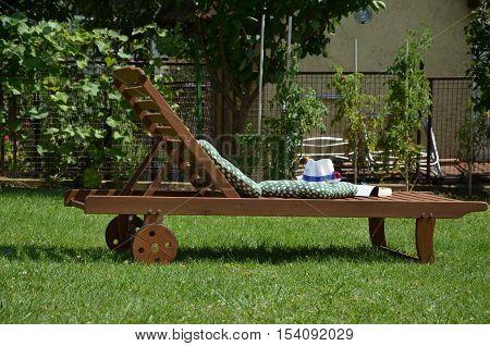 Easy Chair In A Garden