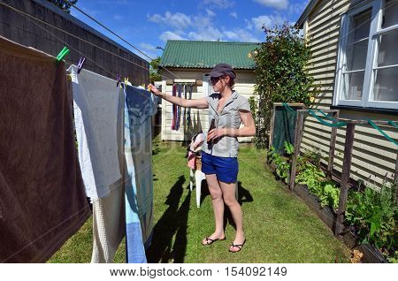 Laundry - Washing Clothes Line