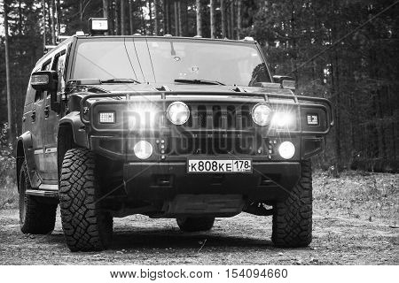 Black Hummer H2 Vehicle