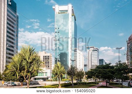 Buildings And Streets Of Sao Paulo, Brazil (brasil)