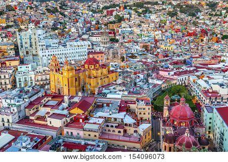 Our Lady of Guanajuato Church University Templo Companiea Guanajuato Mexico From Le Pipila Overlook