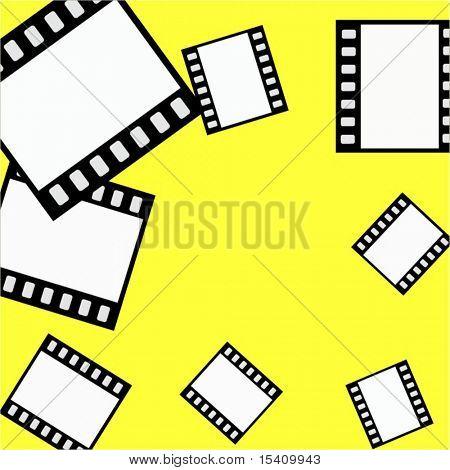 Vector Film Strips Background Border Frame