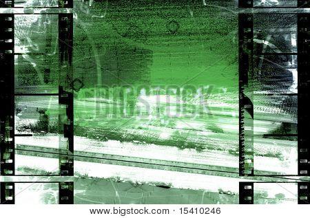 Filmstrip Urban Grunge Background
