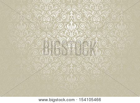 Vector retro background. Floral pattern for vintage designs.