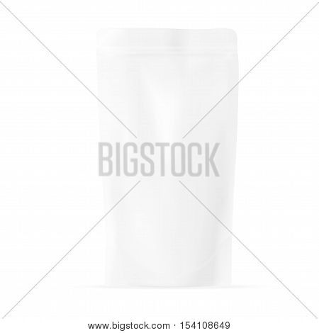 White Blank Pouch. Pack For Sauce, Mayonnaise Or Ketchup