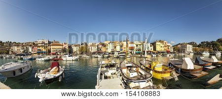 Cassis french town situated on the Mediterranean coast