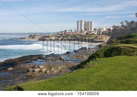 Scenic La Jolla, California in San Diego County