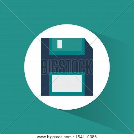 Diskette icon. Technology media data and  information theme. Colorful design. Vector illustration