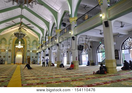 Inside Of Sultan Mosque Singapore