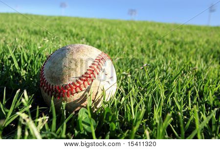 Baseball On Grass, See Vector In My Portfolio