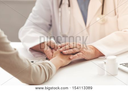 Old Doctor And Patient