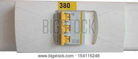 Close up of triple automatic fuse board