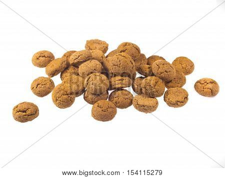 Bunch Of Pepernoten Cookies Seen From Side