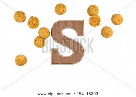 Bunch Og Ginger Nuts With Chocolate Letter