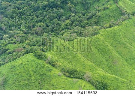 Mountain Top From Above