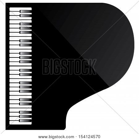 vector illustration of a black piano top view