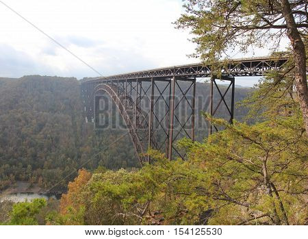 New River Gorge Bridge over New River, New River Gorge National River, Appalachian Mountains,  West Virginia