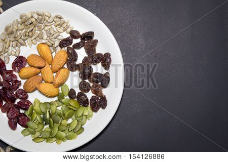 Trail Mix In The Dish.