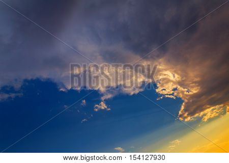 Sunset Dramatic Sky Clouds Cloud Cloudscape