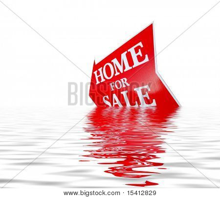 Sinking Home For Sale Sign