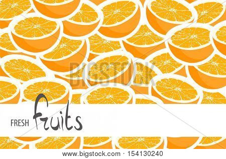 A lot of juicy oranges with space for signatures