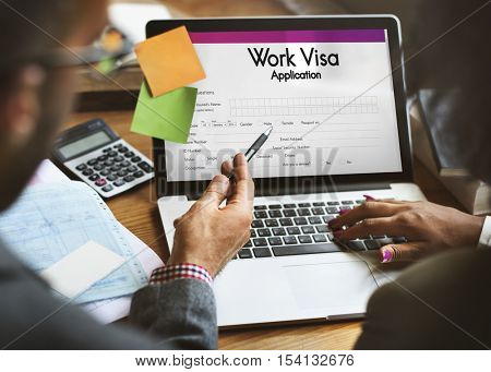 Work Visa Application Employment Recruitment Concept