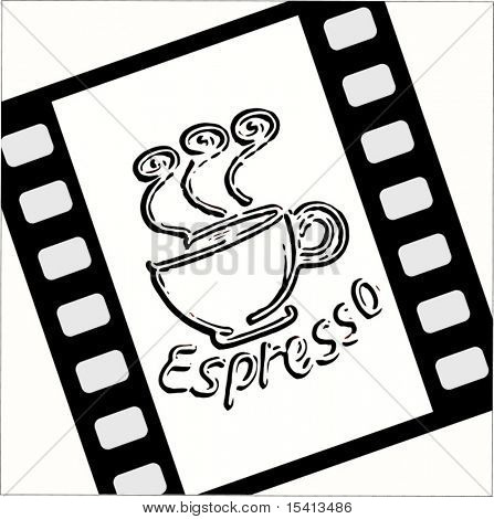 Vector Film With Espresso Coffee Cup