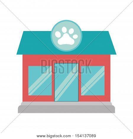 pet shop store building vector illustration design