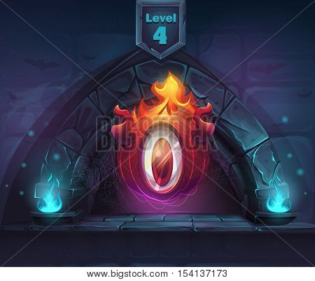 Arch Magic in next 4th level with ElDiablo. For web video games user interface design.
