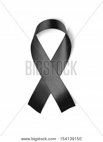 Black ribbon isolated on white background object