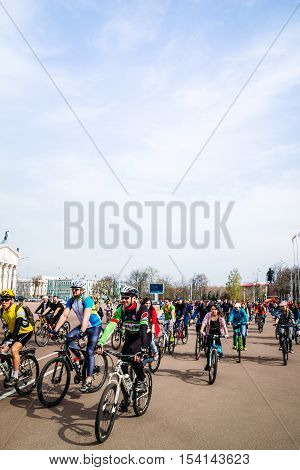 Bicyclists Cycling Season Opened In Gomel, Belarus