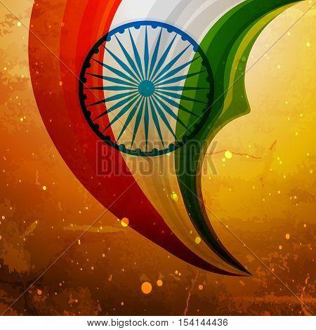 Old Indian Flag Creative Vector Design Illustration