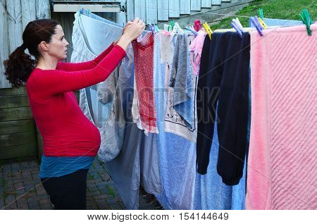 Pregnancy - Pregnant Woman Housework