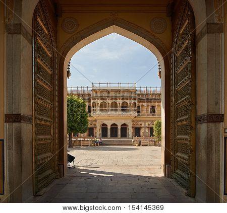 Mubarak Mahal In Jaipur City Palace, Rajasthan, India.